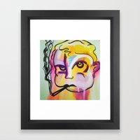 Never trust a smoking baby Framed Art Print