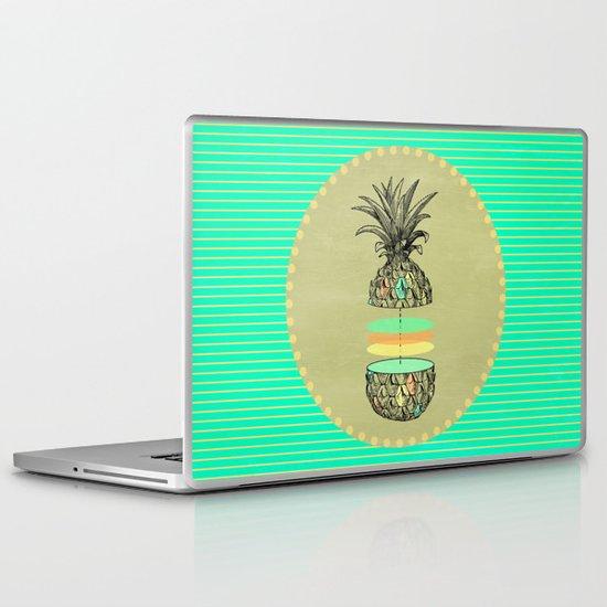 Sliced pineapple Laptop & iPad Skin