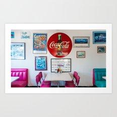 Diner Route 66 Art Print