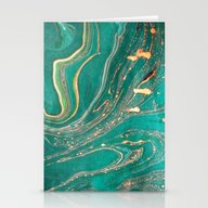 Ocean Gold Stationery Cards