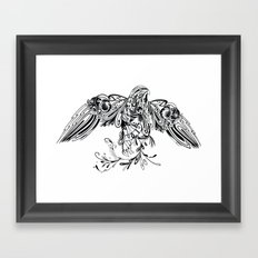 Patterned Peregrine Framed Art Print