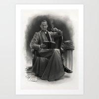 The Omnivorous Reader Art Print