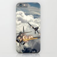 iPhone & iPod Case featuring Watch your six! by John Medbury (LAZY J Studios)