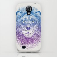 Galaxy S4 Cases featuring Face of a Lion by Rachel Caldwell