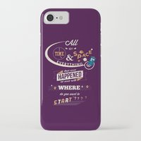 doctor who iPhone & iPod Cases featuring Time and Space by Risa Rodil