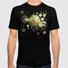 Honey Bee: Emerald Mens Fitted Tee Black SMALL