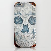 iPhone & iPod Case featuring Galvanized Skull by Mario Sayavedra