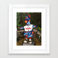 Phillies Statue Framed Art Print