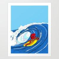 octosurfer Art Print