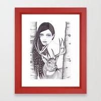 Silver Forest Framed Art Print