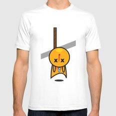 Hanged White Mens Fitted Tee SMALL
