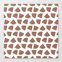 Chunks Of Watermelon Canvas Print
