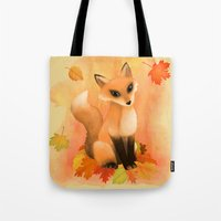 Fall Fox Tote Bag
