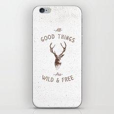 WILD DEER iPhone & iPod Skin