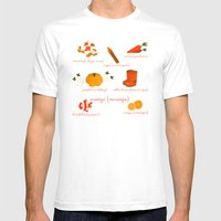 Colors: Orange (Los Colo… Mens Fitted Tee White SMALL