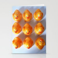 Rubber Ducks in a Row Stationery Cards