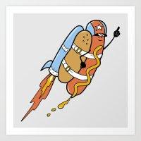 The Fastest Food Art Print