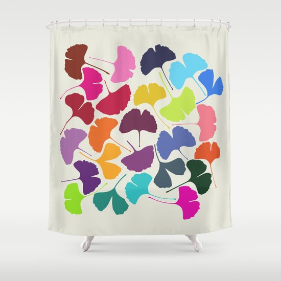 Ginkgo Multicolor Shower Curtain