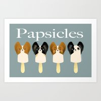 Papsicles Art Print