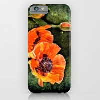 iPhone & iPod Case featuring Oriental Poppies family by LudaNayvelt