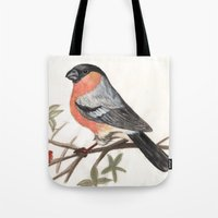 Eurasian Bullfinch Bird Tote Bag