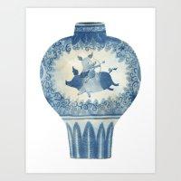 Pig Vase Art Print