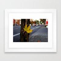 Single Leaf Framed Art Print