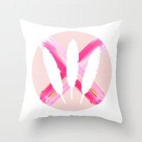 pastels & Glitter Throw Pillow