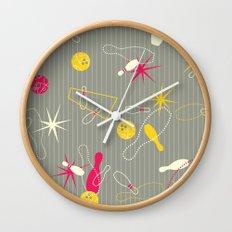 Bowling Pinstripe Wall Clock