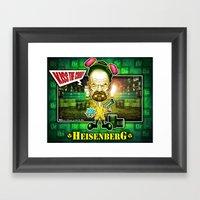 The Heisenberg concept! Framed Art Print