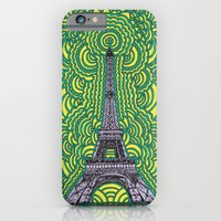 Eiffel Tower Drawing Meditation - purple/yellow/teal iPhone 6 Slim Case