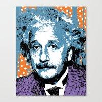 Blue Einstein Canvas Print