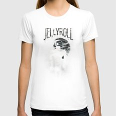 Jellyroll #12: Howlin' Womens Fitted Tee White SMALL