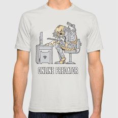 Online Predator Mens Fitted Tee Silver SMALL