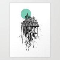 City Drips Art Print