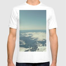 Amidst the Summit - Mt. Rainier SMALL Mens Fitted Tee White
