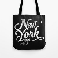 New York City vintage typography Tote Bag