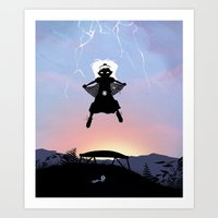 Storm Kid Art Print