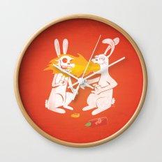Fire Bunny Wall Clock