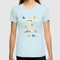 Birdwatching Womens Fitted Tee Light Blue SMALL