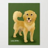 Golden Dog Canvas Print