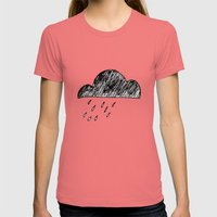 Clouds Womens Fitted Tee Pomegranate SMALL