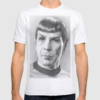 Spock - Fascinating (Star Trek TOS) Mens Fitted Tee Ash Grey SMALL