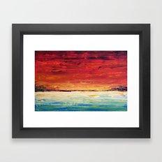Red Meets Sea Framed Art Print