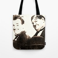 Laurel and Hardy Tote Bag