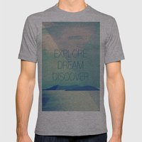 Explore Dream Discover Mens Fitted Tee Athletic Grey SMALL