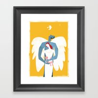 New Christmas Family In … Framed Art Print