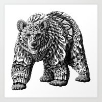 Ornate Bear Art Print