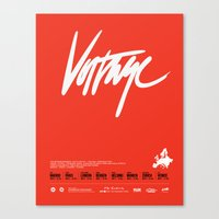 Voltage - Poster Variant Canvas Print
