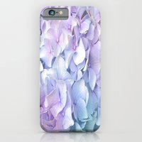 pastel iPhone & iPod Cases featuring Soft Pastel Hydrangea by Judy Palkimas